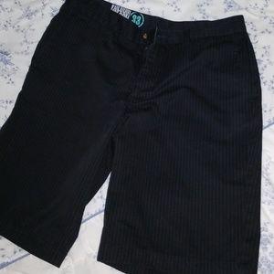Volcom Black Pinstripe Shorts